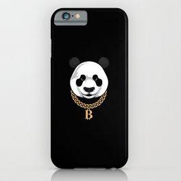 Crazy Rich Bitcoin Panda iPhone Case