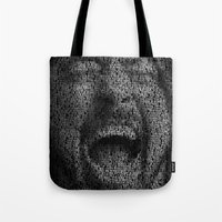 dave grohl Tote Bags featuring Dave Grohl. Best Of You by Robotic Ewe
