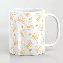 Soybean Milk Seamless Vector Pattern Coffee Mug