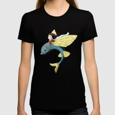 Flying Fish Womens Fitted Tee LARGE Black