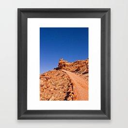 Up Hill Climb  Framed Art Print