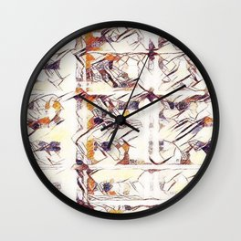 Homage to Kandinsky, with Watercolors Wall Clock
