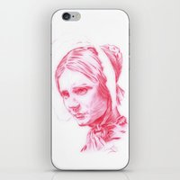 jane eyre iPhone & iPod Skins featuring Jane Eyre glowing by Jonathan Snowden