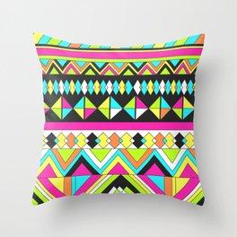 Geometric Bright Stripe Throw Pillow