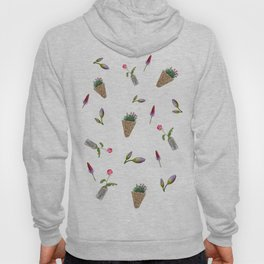 collage of flower on white background Hoody