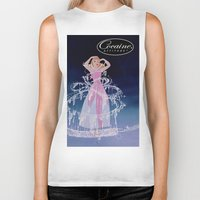 cocaine Biker Tanks featuring Cinderella Cocaine Attitude by Trash Apparel