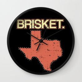 Brisket Texas BBQ Barbecue Rubs State Pride Gift Wall Clock