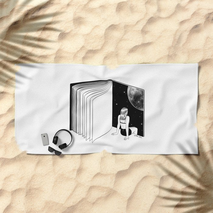 Reading is Dreaming with Your Eyes Open Beach Towel