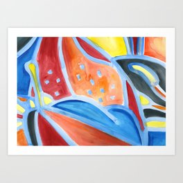 Spotted Lilies Art Print