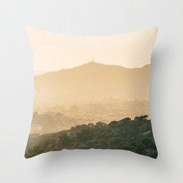 Barcelona Mountains Throw Pillow