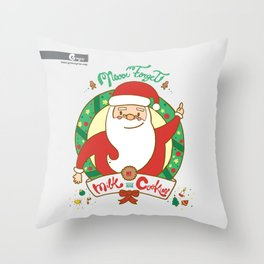 Milk and Cookies Throw Pillow