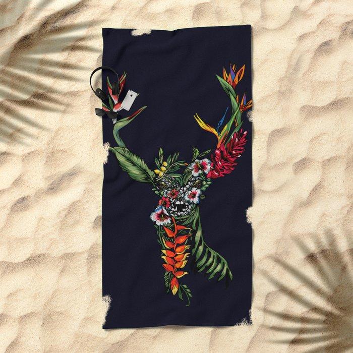 Tropical Deer Beach Towel