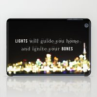 coldplay iPad Cases featuring Lights Will Guide You Home by Alisha KP