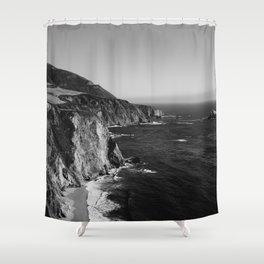 Monochrome Big Sur Shower Curtain