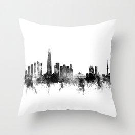Seoul Skyline South Korea Throw Pillow