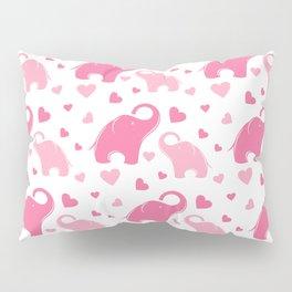 Cute pink elephant pattern Pillow Sham