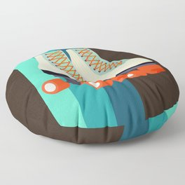 Retro Roller Skates Floor Pillow