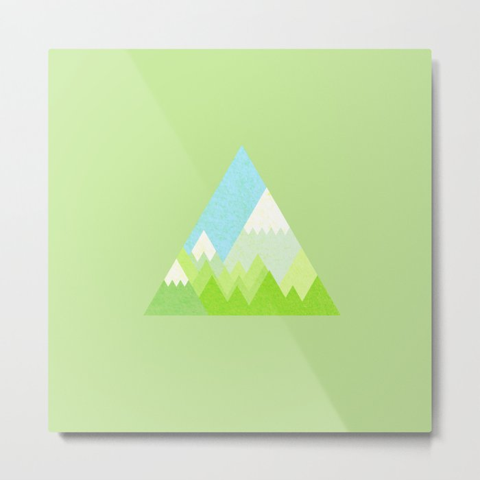 national park geometric pattern Metal Print