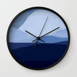 Blue C. Montains Wall Clock