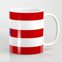 puerto rico Mugs featuring puerto rico country flag star by tony tudor