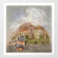 Cloudy City Art Print
