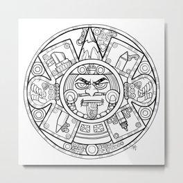 Pencil Wars Shield Metal Print