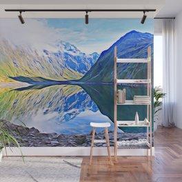 Lake Marian, Fiordland National Park, South Island, New Zealand Wall Mural