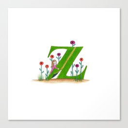 z if for zipper Canvas Print