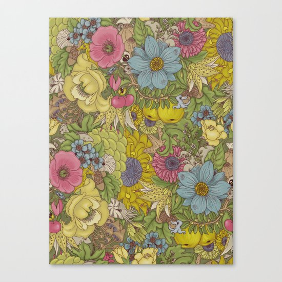 the wild side - spring tones Canvas Print