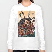 samurai Long Sleeve T-shirts featuring Samurai by RICHMOND ART STUDIO