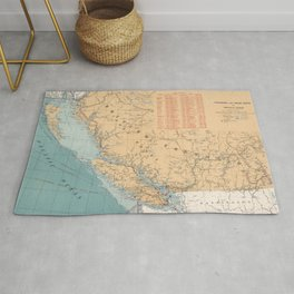 Lighthouses and Sailing Routes of British Columbia Rug