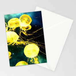 Electric Jellyfish in the Ether Stationery Cards