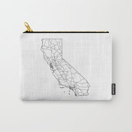 California White Map Carry-All Pouch