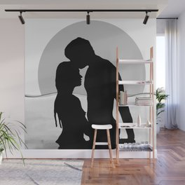 Lovers Black and White Wall Mural
