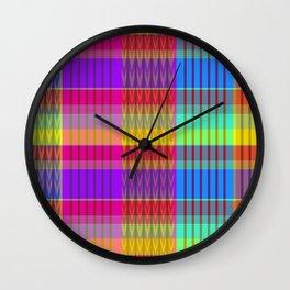 MADRAS PLAIDRAS Wall Clock