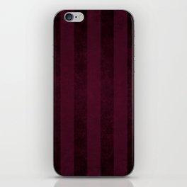 Red Wine Stripes iPhone Skin