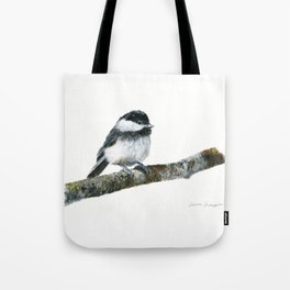 Black-capped Chickadee by Teresa Thompson Tote Bag