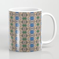 Blue Rose geometric pattern coffee mug by photosbyhealy