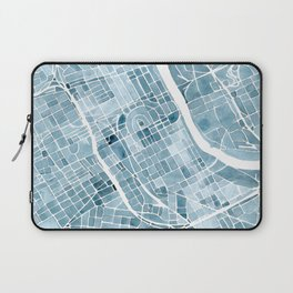Map Nashville Tennessee Blueprint City Map Laptop Sleeve