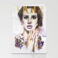 lana Stationery Cards featuring Lana by Kim Maria Morrow