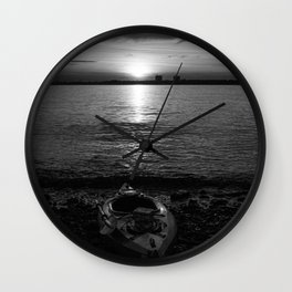 Kayak at Sunrise Wall Clock