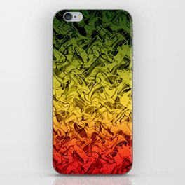 Rasta Fire iPhone Skin