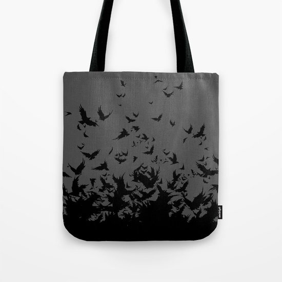 An Unkindness of Ravens (Grey) Tote Bag