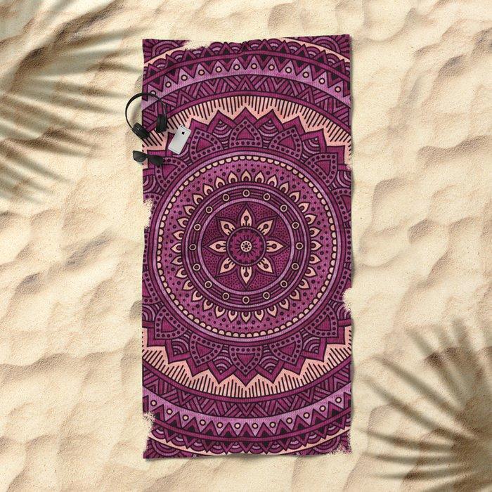 Hippie mandala 39 Beach Towel