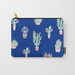 Little cactus pattern - Princess Blue Carry-All Pouch