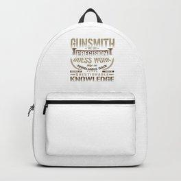 Gunsmith Precision Knowledge Gunsmithing Guns Artillery Gunnery Gift Backpack