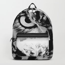 owl look digital painting reacbw Backpack