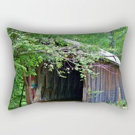 Bunker Hill Covered Bridge Rectangular Pillow