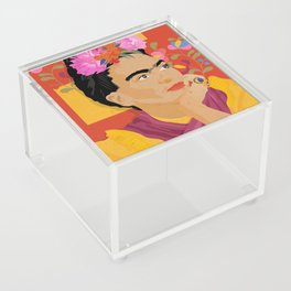 Frida - a colorful mind Acrylic Box