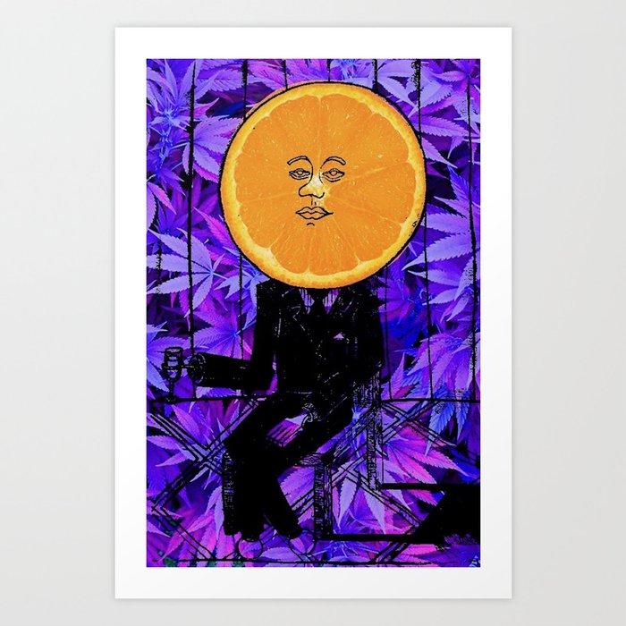 Purple Orange Plant - Dream Pop Surrealism Kunstdrucke